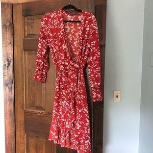SHEIN Wrap Floral Dress